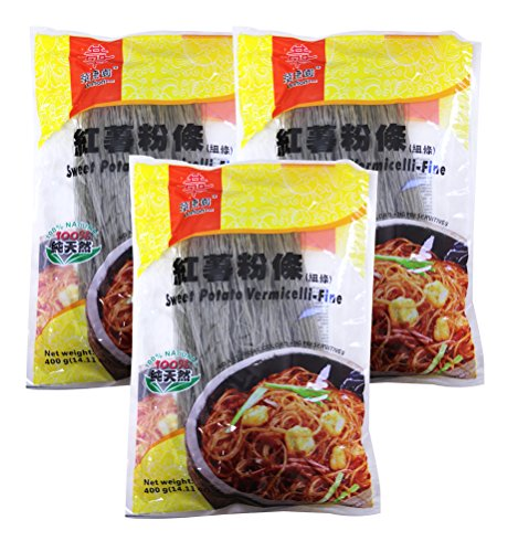 Price comparison product image Sweet Potato Vermicelli Oriental Noodle 14.11 oz / 400g (Pack of 3) (Thin)