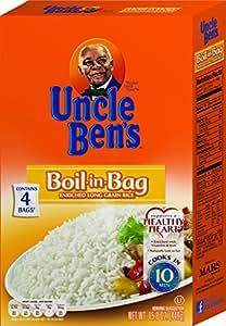 UNCLE BEN'S Boil-in-Bag: White Rice, 15.8oz (12pk)