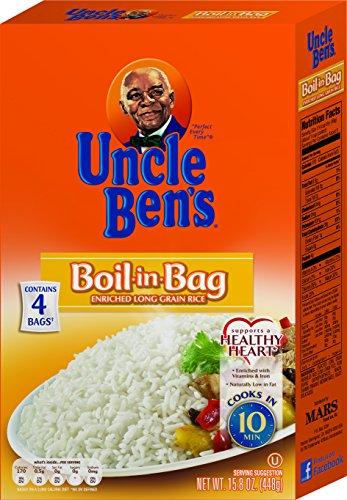 (UNCLE BEN'S Boil-In-Bag: White Rice, 15.8oz (12pk))
