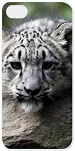 Animal Snow Leopard iPhone 4s Case Cover with White Side