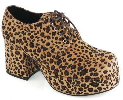 Pimp Adult Costume Shoes Leopard Print - (Leopard Print Pimp Adult Shoes)