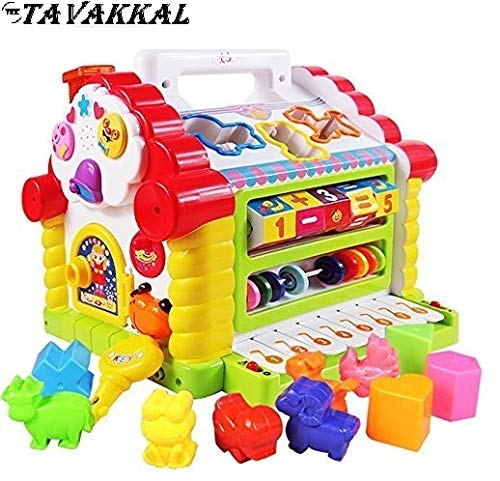 TEC TAVAKKAL® Colorful and Attractive Funny Cottage Educational and Sound Toy, Learning House - Baby Birthday Gift for 1 2 3 Year Old Boy Girl Child