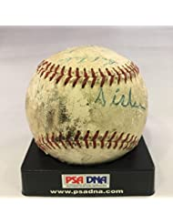 George Sisler Multi Signed Game Used National League Giles Baseball COA - PSA DNA Certified - MLB Ga