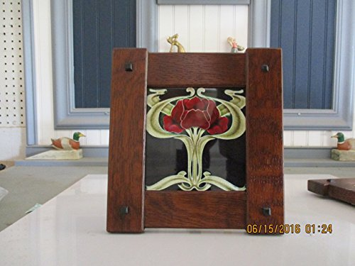 """Arts & Crafts 6"""" X 6"""" Tile Frame Handcrafted Mission Style Quartersawn White Oak Mission Style from Augie's Woodworking"""