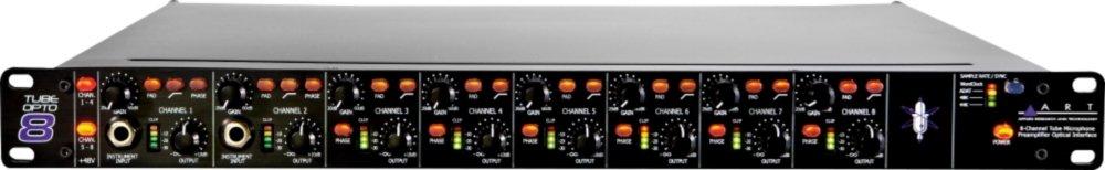 ART TubeOpto 8 Tube Microphone Preamp 8 Channel Class A Digital 24Bit Audio I/O 44.1 or 48kHz