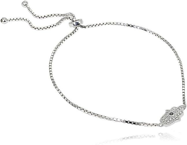 Sterling Silver Classic Hamsa Bracelet