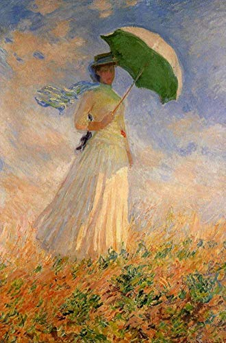 Toperfect $50-$2000 Hand Painted Art Paintings of Claude Monet Woman with a Parasol Oil Painting Reproduction on Canvas Old-4 Famous -36 x 48 Inches