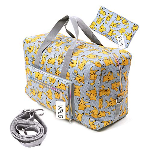 Large Travel Duffel Bag Foldable Large Travel Bag Weekend Bag Checked Bag Luggage Tote 18 Style 21.6IN x 9.8IN x 13.7IN -