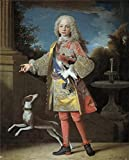 'Ranc Jean Fernando VI Nino Ca. 1723 ' Oil Painting, 10 X 12 Inch / 25 X 32 Cm ,printed On Perfect Effect Canvas ,this Beautiful Art Decorative Prints On Canvas Is Perfectly Suitalbe For Bedroom Gallery Art And Home Decoration And Gifts