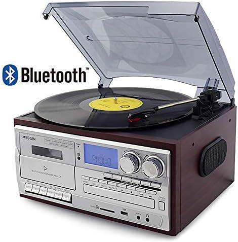 3 Speed Bluetooth Vinyl Record Player Vintage Turntable CD&C