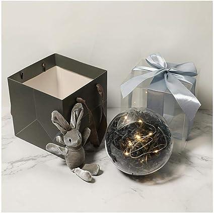 Caja de regalo de bola de cristal de bola transparente, caja de regalo esférica, caja de regalo de caja vacía, caja de regalo creativa@15 * 15 * 15 cm_A3: Amazon.es: Oficina y papelería