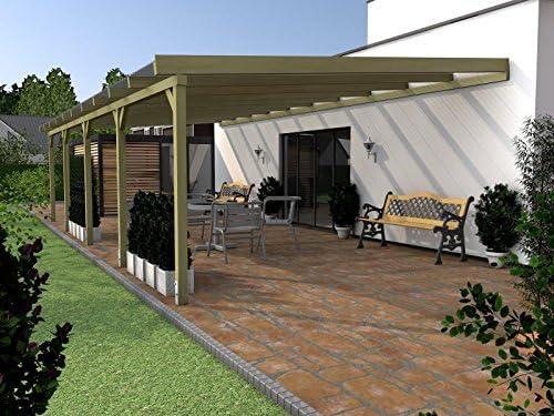 PRIKKER-Überdachungen Borkum XIV 800 x 500 cm Jardín de Invierno überdachung: Amazon.es: Jardín