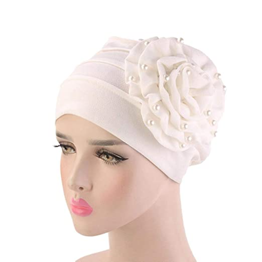 8549bf4920dff Image Unavailable. Image not available for. Color  URIBAKE Women Floral Cancer  Chemo Hat Beanie Scarf Turban Head Wrap Cap