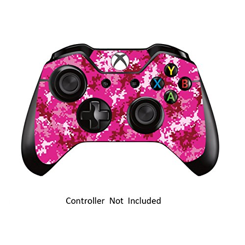 Skins Stickers for Xbox One Games Controller - Custom Orginal Xbox 1 Remote Controller Wired Wireless Protective Decals Covers - High Gloss Protector Accessories - Digicamo Pink