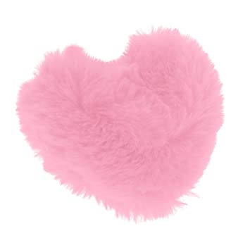 non-brand Almohada de Felpa Cojín de Peluche en Forma de Corazón para 1/3 Muñeca Juguetes - Rosa Roja