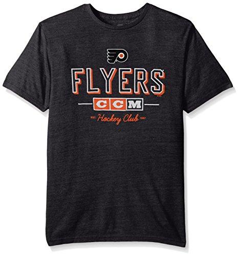 NHL Philadelphia Flyers Men's Attacking Zone Tri-Blend Short Sleeve Tee, Medium, Black