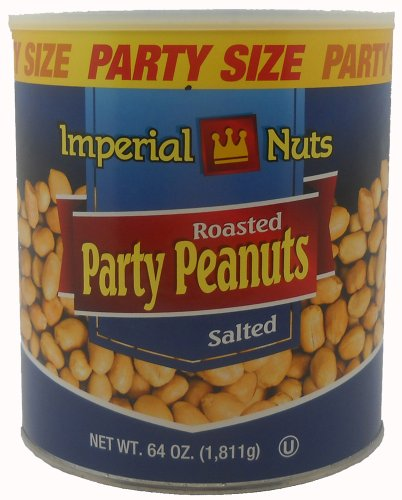 Imperial Nuts Peanuts Salted and Roasted, 64-Ounce