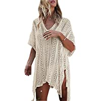 Wander Agio Beach Swimsuit for Women Sleeve Coverups Bikini Cover up Net
