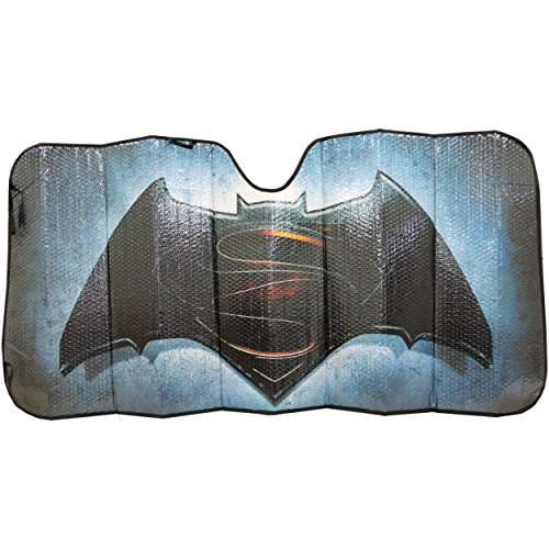 DC+Comics Products : Licensed DC Comic Batman Superman Sunshade Windshield Side Passenger (3753)