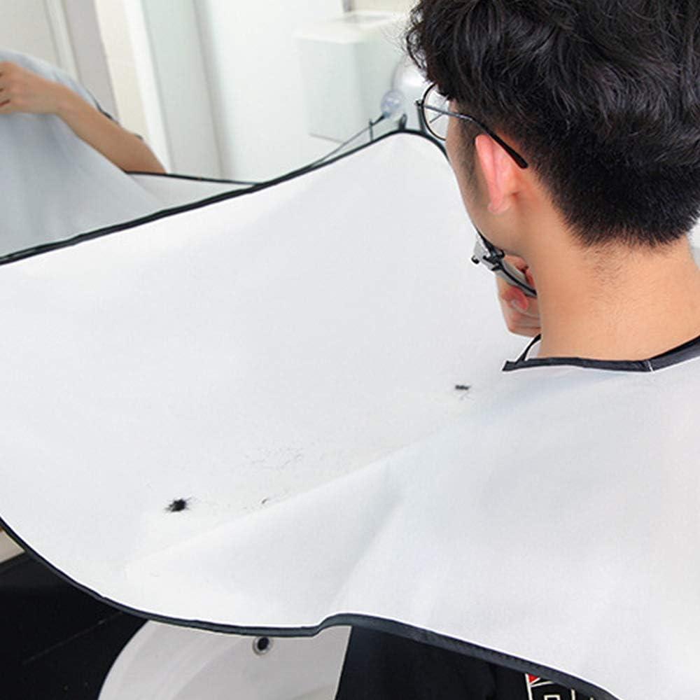 YYLE Male Barba Delantal Hombre Baño Blanco Negro Barba Cuidado Trimmer Cabello Afeitado Delantal Men Waterproof Cleaning Protect