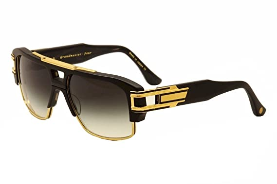 0358c9e9cbb Amazon.com  Dita Grandmaster Four 2060A 2060-A Black 18K Gold Retro ...