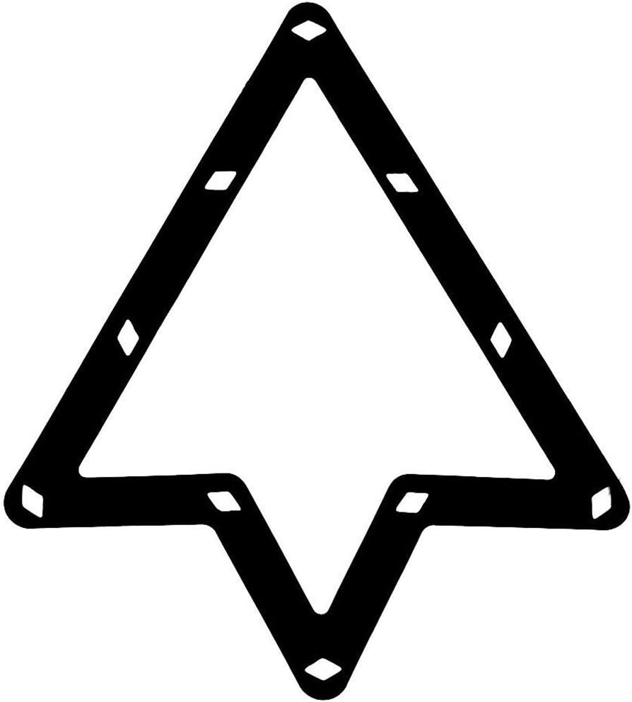 6 pcs Magic Rack Black Triple-cornered Pool 8.9 and 10 Ball Accessories TOOGOO R