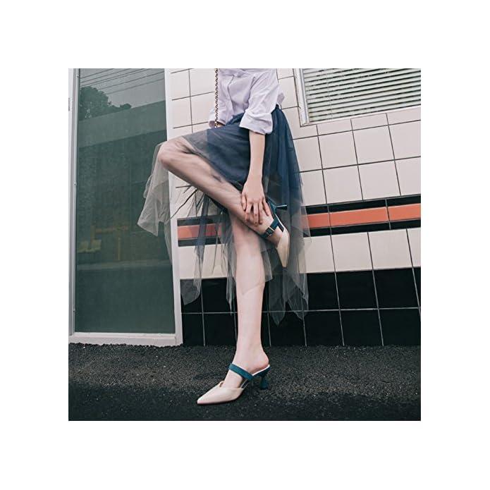 Jianxin Ciabatte Fresco Abbigliamento Estivo Donna Consigli Di Moda A Spillo Bottom Slips colore Beige Dimensioni Eu 35 us 5 uk 3 jp 22 5cm