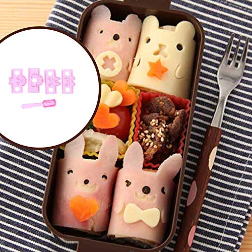 STORE-HOMER - Cute Rabbit Cartoon Sushi Rice Mold for Kids Lunch Bento Maker Sandwich Cutter Moon Cake Decorating Kitchen Tools