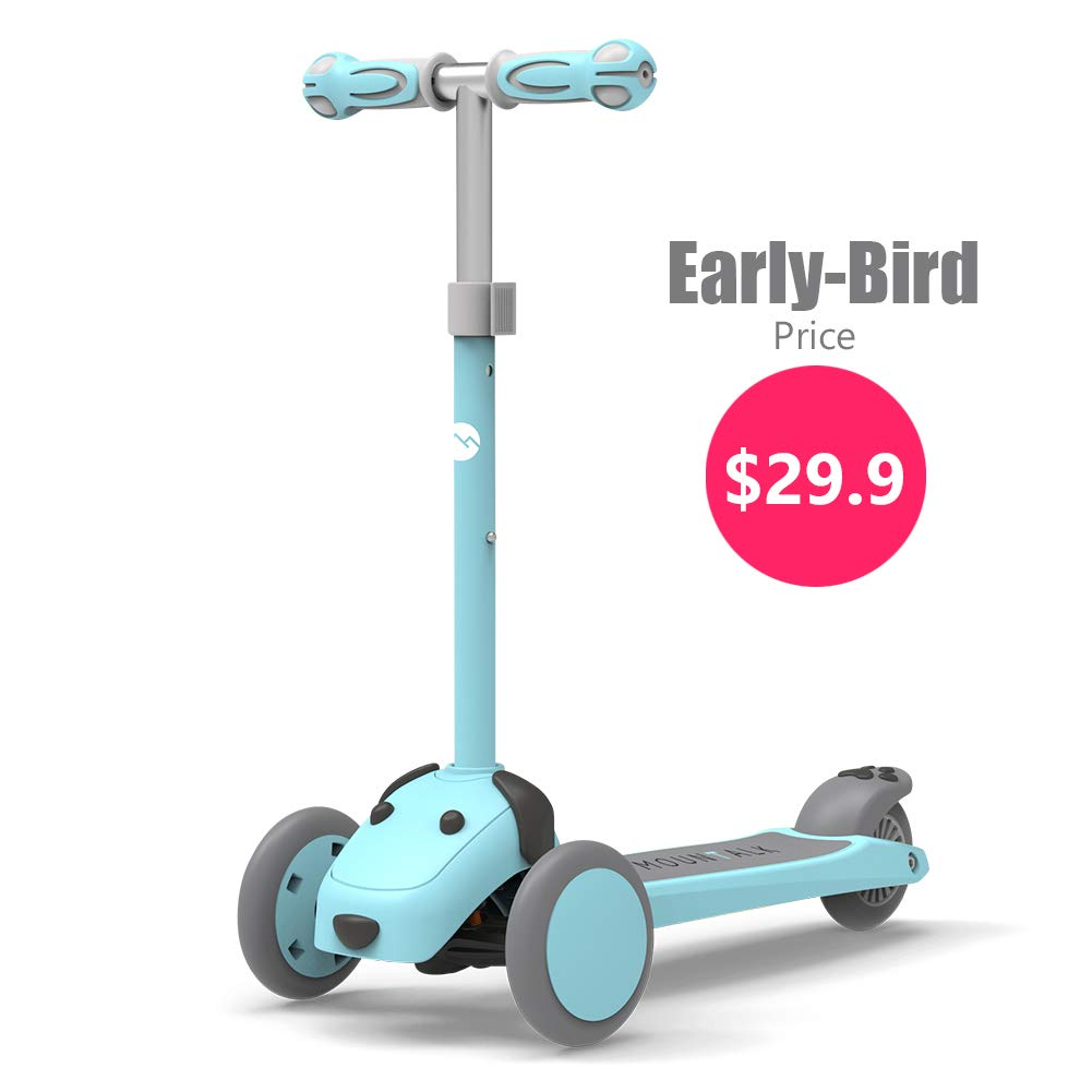 Mountalk 3 Wheel Scooters for Kids, Kick Scooter for Toddlers 2-7 Years Old, Boys and Girls Scooter, Pink/Blue by Mountalk