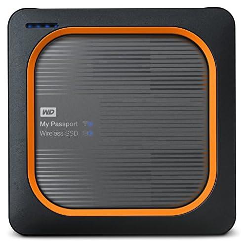 chollos oferta descuentos barato Western Digital My Passport Disco duro externo Wireless SSD 1 TB color negro y rojo