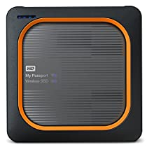 Western Digital My Passport - Disco duro externo, Wireless SSD, 2 TB, color negro y rojo