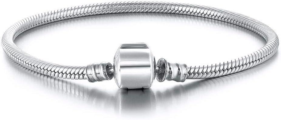 DALARAN Breloque intercalaire en argent sterling 925 uni pour bracelet /à breloques