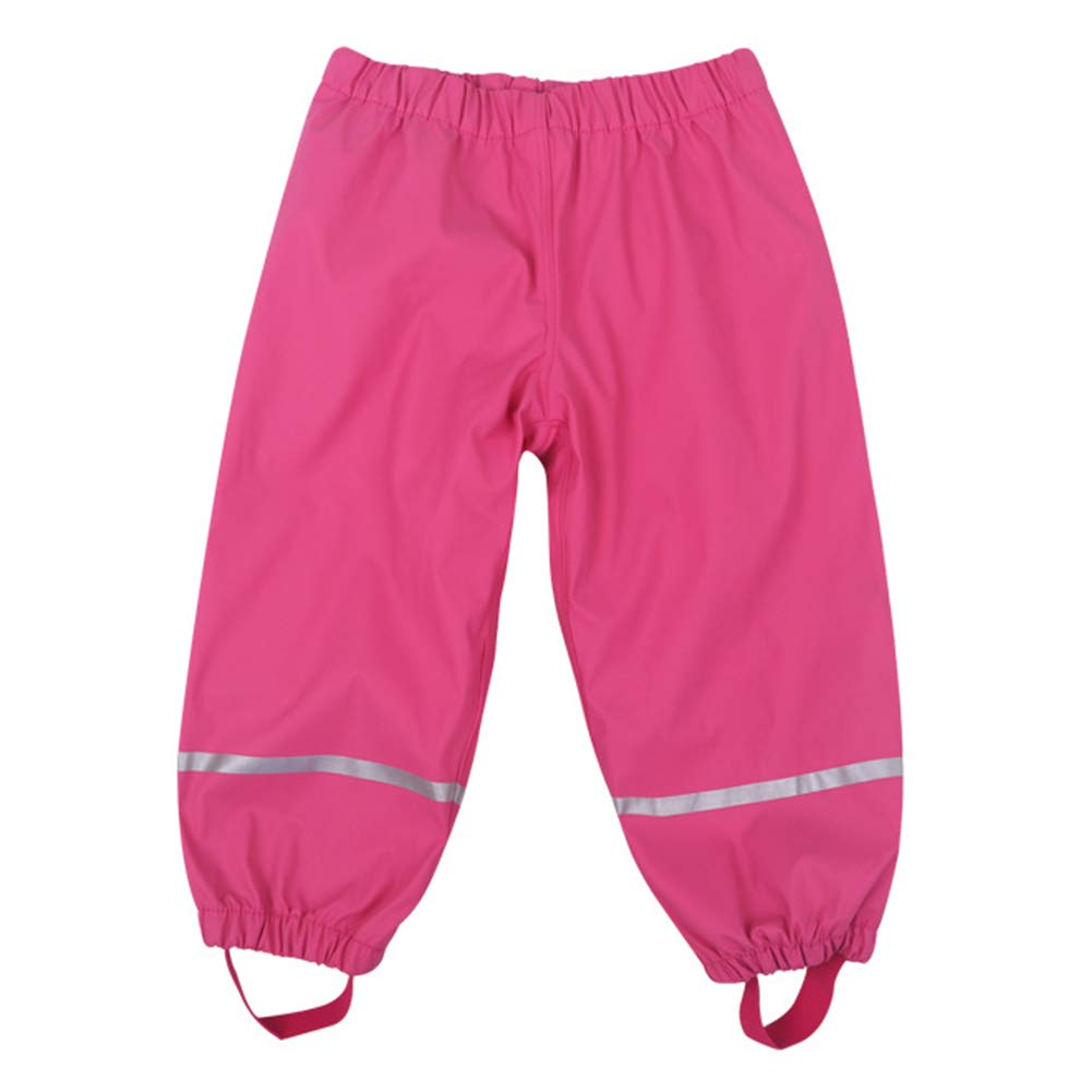 Goodkids Children Girls Boys Winter Rainpants Waterproof Warm Cotton Lining Raingear with Reflectors