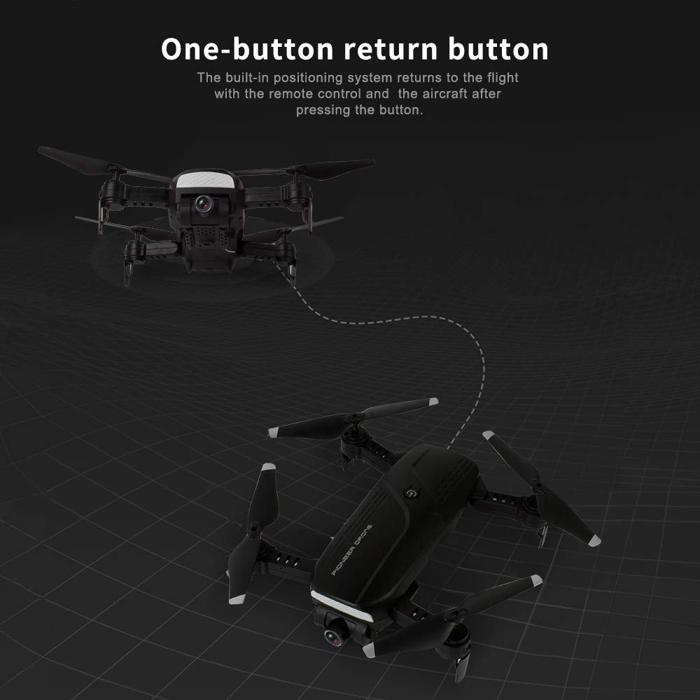 MOZATE LH-X41F 2.4Ghz 4CH Attitude Hold WiFi 720P Optical Flow Dual Camera RC Quadcopter Drone (Black) by MOZATE (Image #7)