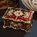 Vintage Jewellery Storage Box Two-layer Trinket