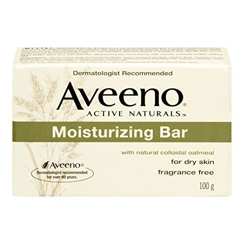 Aveeno Fragrance Free Cleanser (AVEENO Active Naturals Moisturizing Bar Fragrance Free 3.5 OZ - Buy Packs and SAVE (Pack of 6))