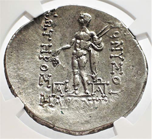 - GR 2nd-1st Centuries BC Greece Ancient Thrace Antique Silver Authenticated Coin Greek Coins AR Tetradrachm About Uncirculated NGC