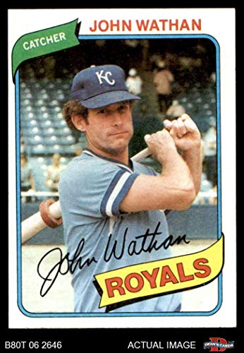 - 1980 Topps # 547 John Wathan Kansas City Royals (Baseball Card) Dean's Cards 6 - EX/MT Royals