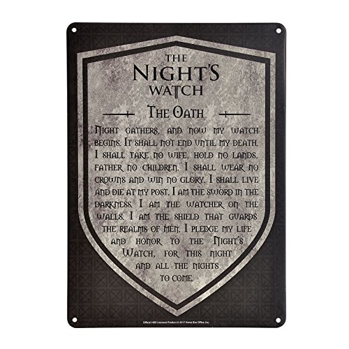 Game Of Thrones Tin Sign A5 (The Night's Watch)