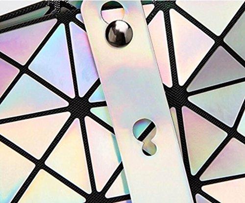 FZHLY Borsa A Tracolla Primavera E L'estate Nuovo Laser Geometrica Piegante Del Sacchetto Coreano Moda,LaserPoBlue