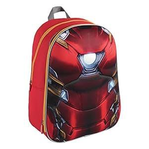 Marvel Mochila con diseño 3D de Traje de Iron Man, 40 cm de tamaño, Marca (2100001620)