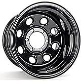 #4: Cragar 3975160: Wheel, Soft 8, Steel, Black, 15 in. x 10 in., 6 x 5.5 in. Bolt Circle, 4 in. Backspace, Each