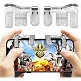 Vector PUBG Mobile Trigger || Transparent || 1 Pair of Sensitive Game Triggers for PUBG/Knives Out/Rules of Survival for All Android and iOS Phones (Pack of 1)
