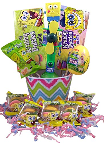 SpongeBob Squarepants Deluxe Easter Basket with Fan Candy and Eggs