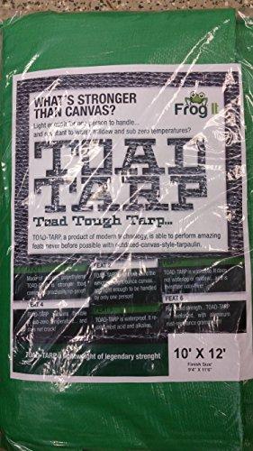TTRP1012 Green 10'x12' Waterproof Poly Tarp TTRP1012  for Ca