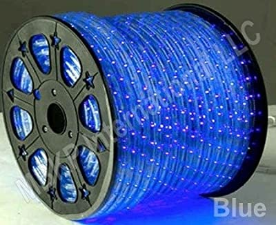 BLUE 12 Volts DC LED Rope Lights Auto Lighting 10 Meters(32.8 Feet)