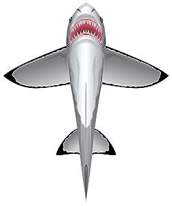 WindnSun SeaLife Great White Shark Nylon Kite-60 Inches Tall by BRAIN STORM KITES