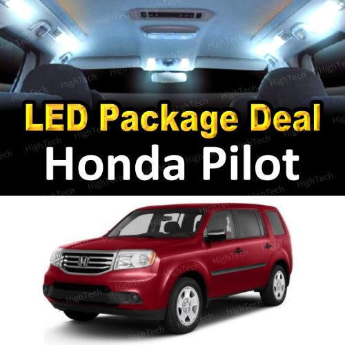 - HighTechAutoAccessory - LED Interior Package Deal for 2003 Honda Pilot (12 Pieces), WHITE