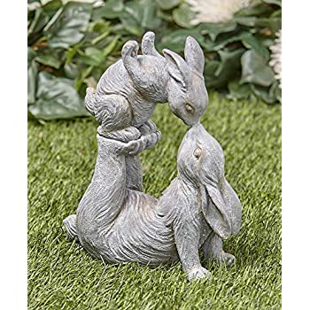 Tamies Tees And Things Mother Bunny Kissing Her Baby Bunny Easter Statue Yard Decor