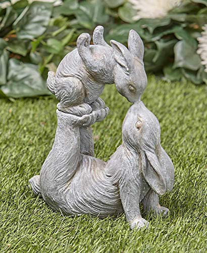 Tamie's Tees And Things Mother Bunny Kissing Her Baby Bunny Easter Statue Yard Decor]()